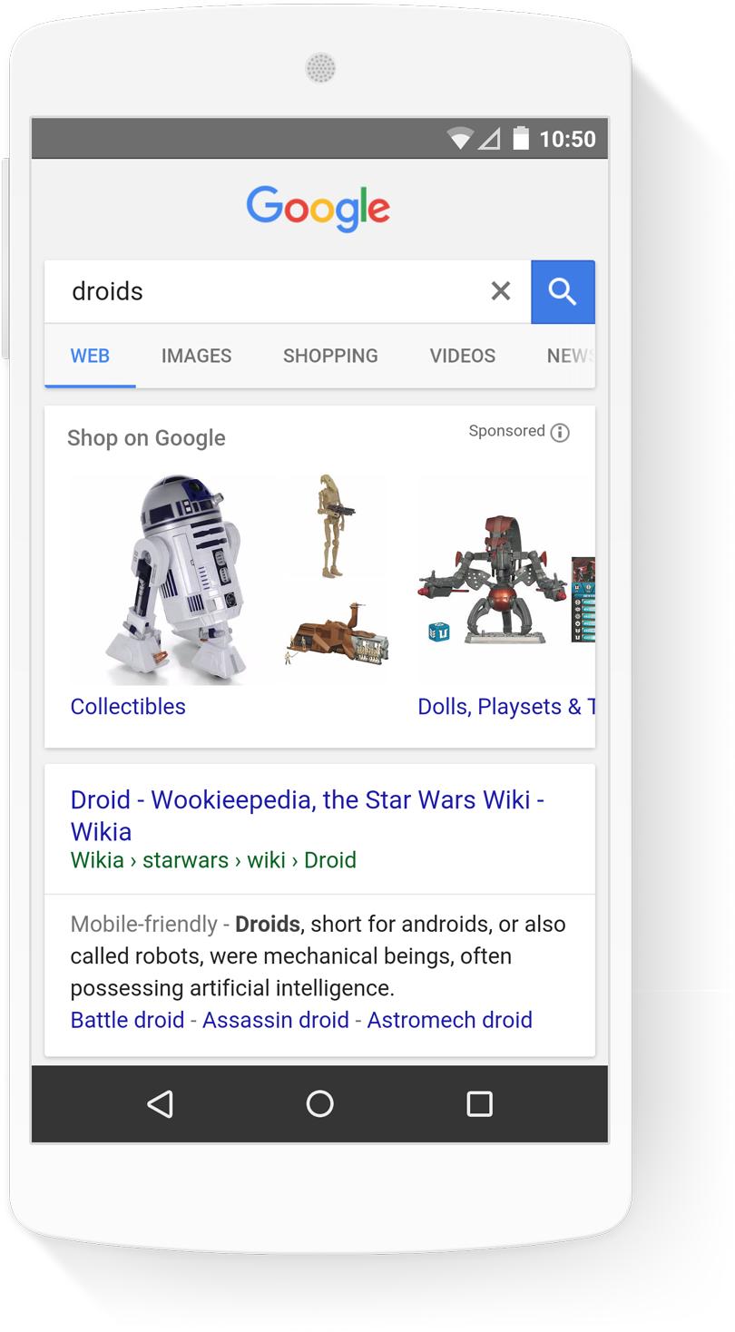 PPC hubbub - Google Shopping - Droids