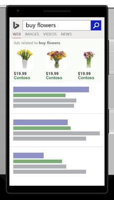 PPC hubbub - Bing Shopping Ad on Mobile