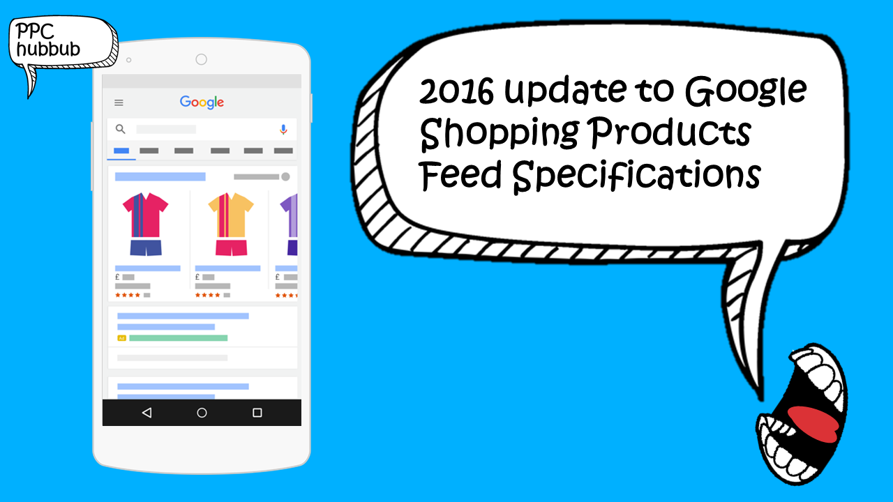 Google Shopping Feed Spec Update