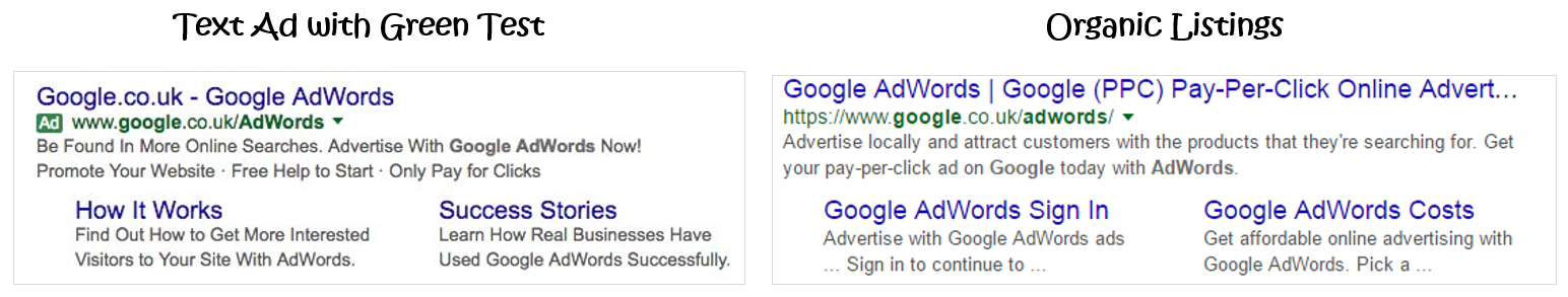PPC hubbub - Google SERP colour