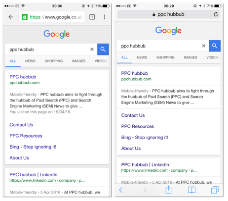 PPC hubbub - Google SERP Colours
