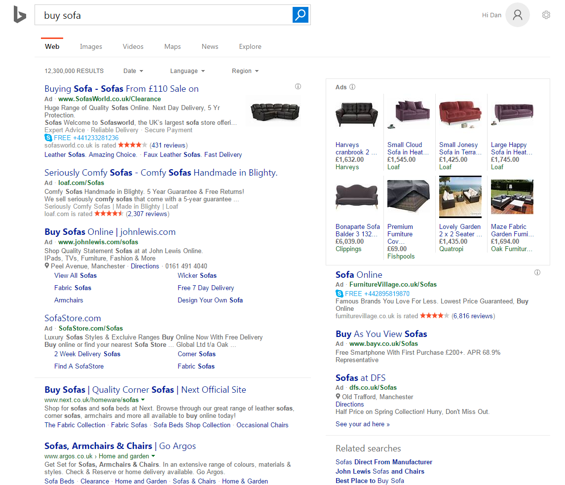 PPC hubbub - Google Green Ad Label - Bing