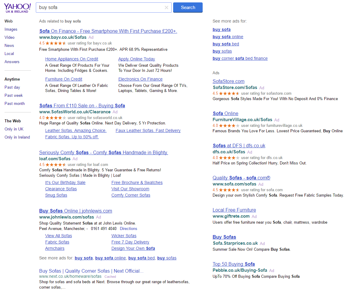 PPC hubbub - Google Green Ad Label - Yahoo