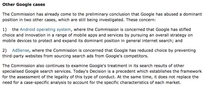PPC hubbub - Google EU Fine