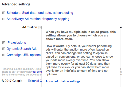 PPC hubbub - Ad Rotation Settings