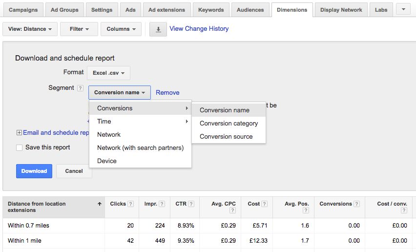 PPC hubbub - Distance - Shop Visit Conversions