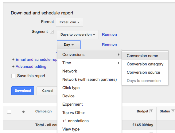 PPC hubbub - Days to Conversion - Shop Visit Conversions
