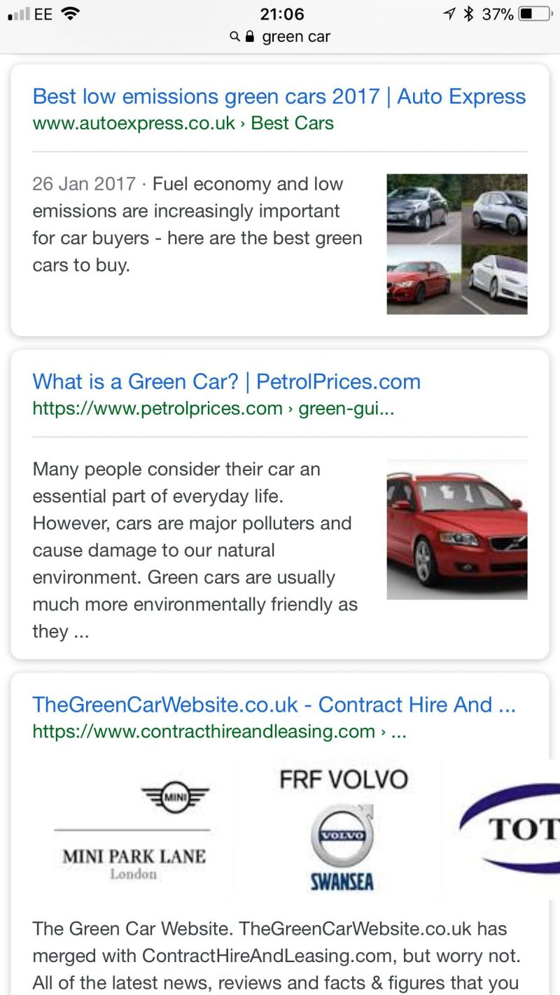 PPC hubbub - Organic Listing with Images