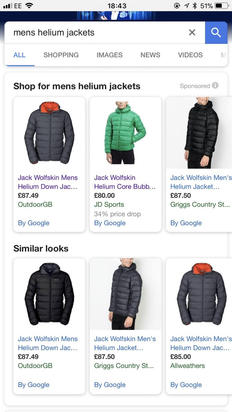 PPC hubbub - Google Shopping Similar Looks