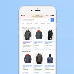 Similar Looks from Google Shopping appear when you click back
