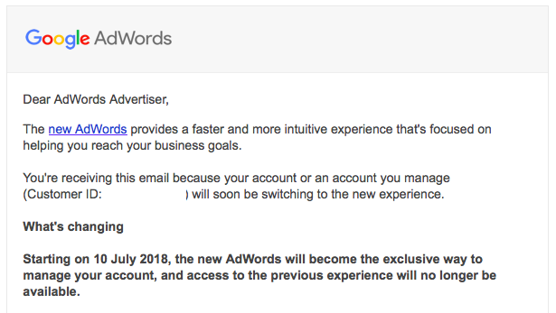PPC hubbub - AdWords Interface Changes