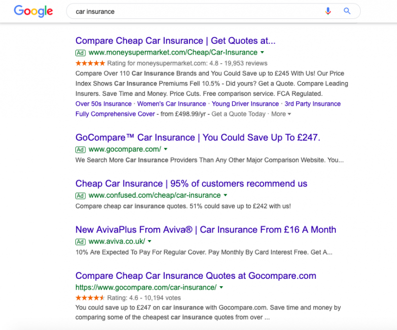 Google Text Ads Truncated - Desktop